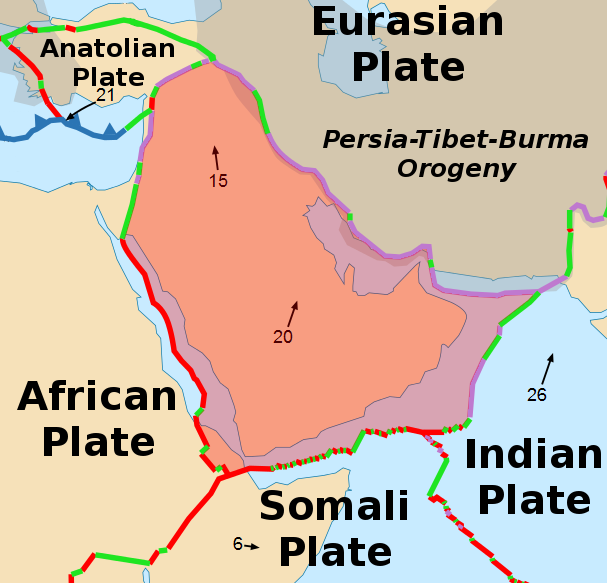 arabian plate map