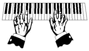 piano playing clipart