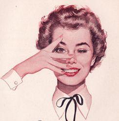 retro woman clipart