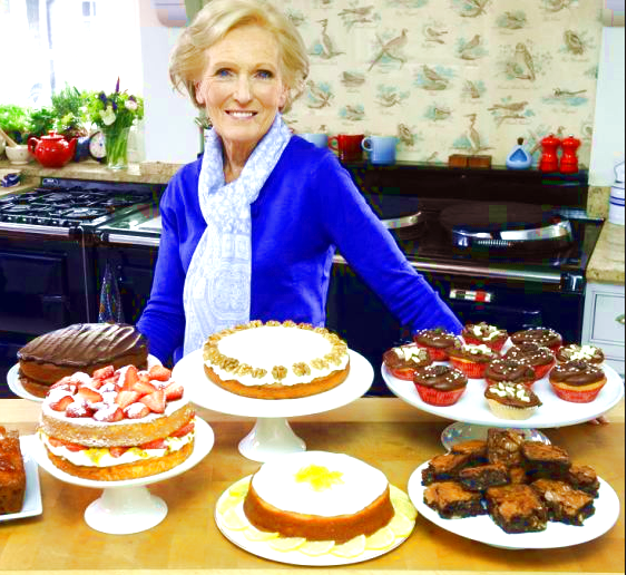 Mary Berry with cakes