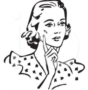 retro woman clipart