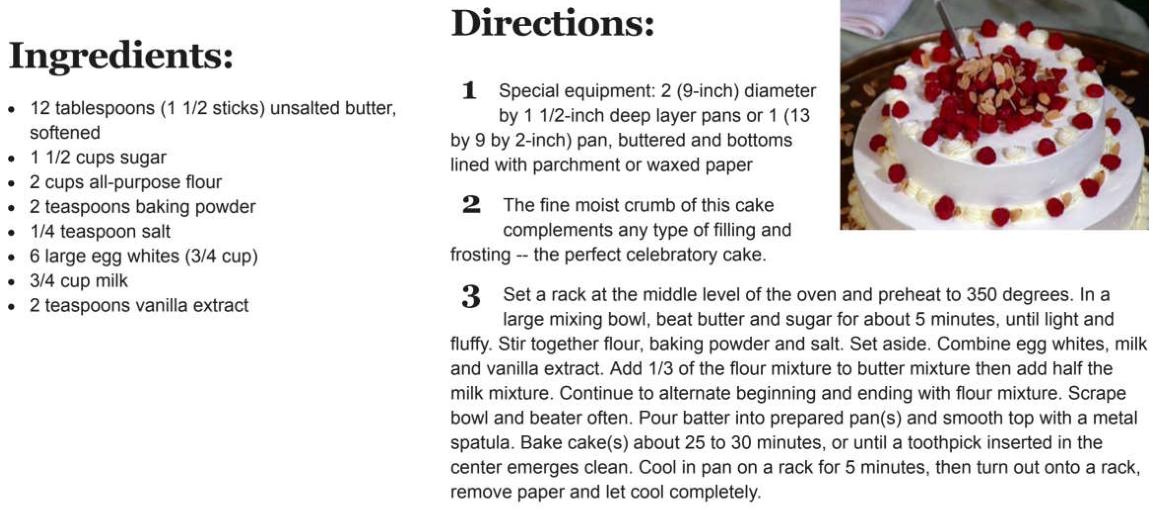 white cake recipe Malgieri