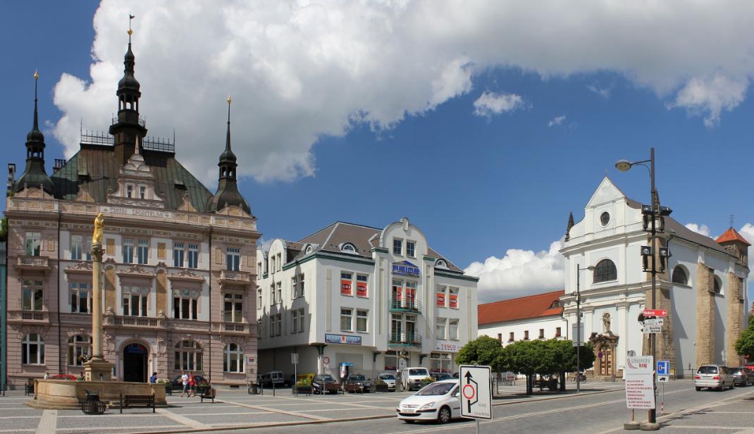 Turnov town square