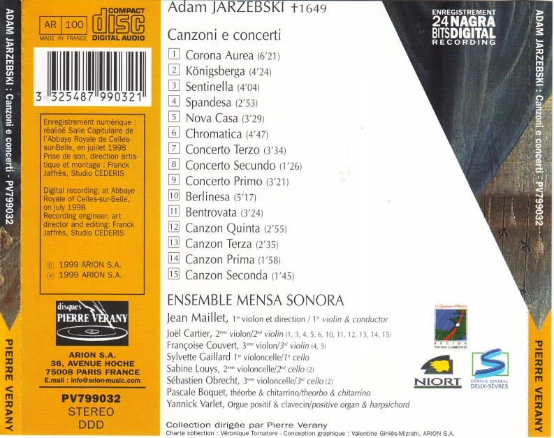 jarzebski cd verso