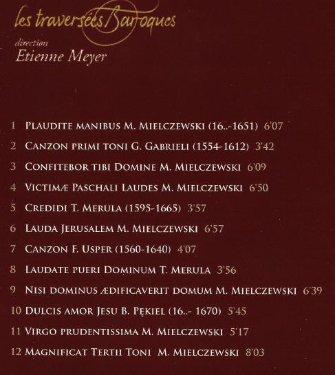 mielczewski track list