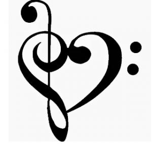 music heart clipart