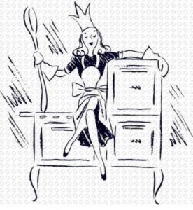 kitchen queen retro clipart