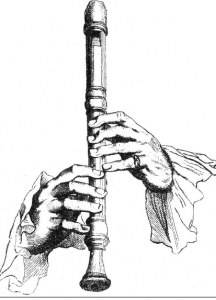 recorder player