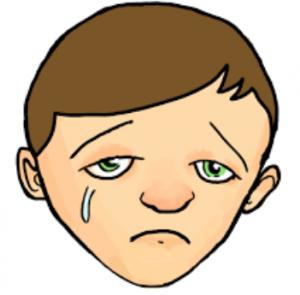sad boy clipart