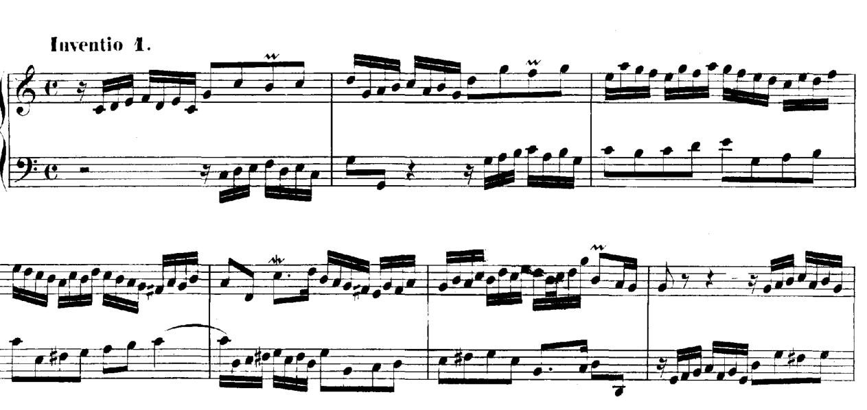 Bach inventio 1