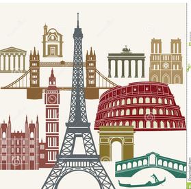 european landmarks clipart