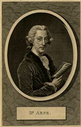 Thomas Arne portrait