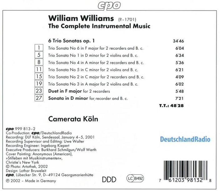 Williams cd verso
