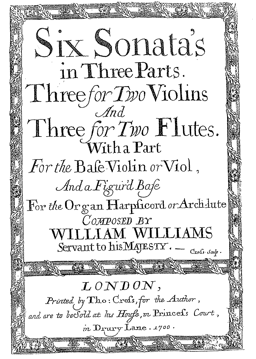 Williams title page