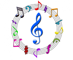 music circle clipart