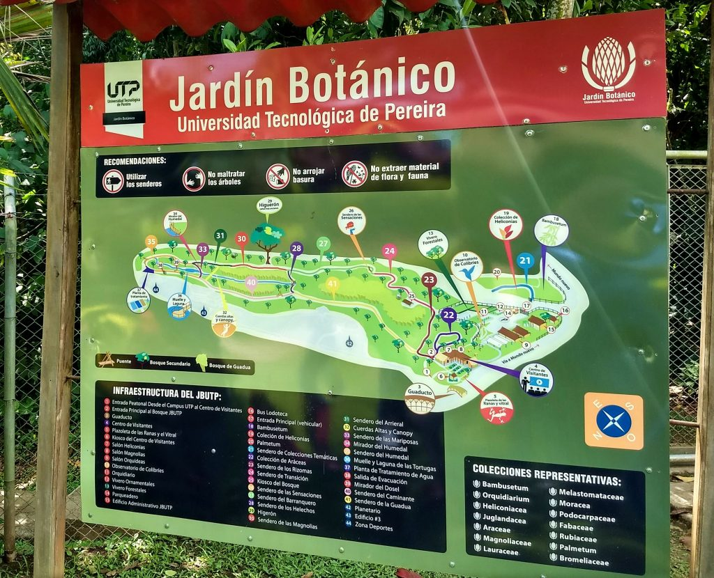 Pereira botanical garden map