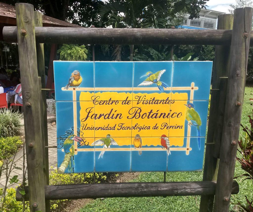 Entrance sign, Pereira Botanical Garden