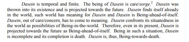 Heidegger excerpt