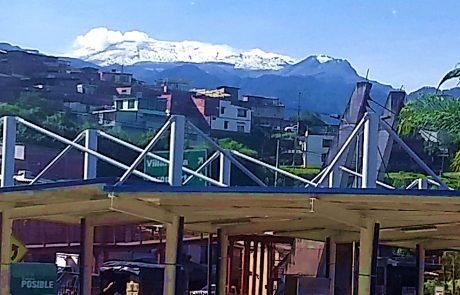 Manizales - view of Nevado del Ruiz
