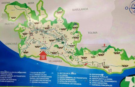Manizales map