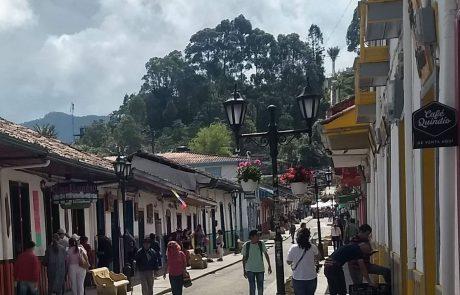 Salento, town street view