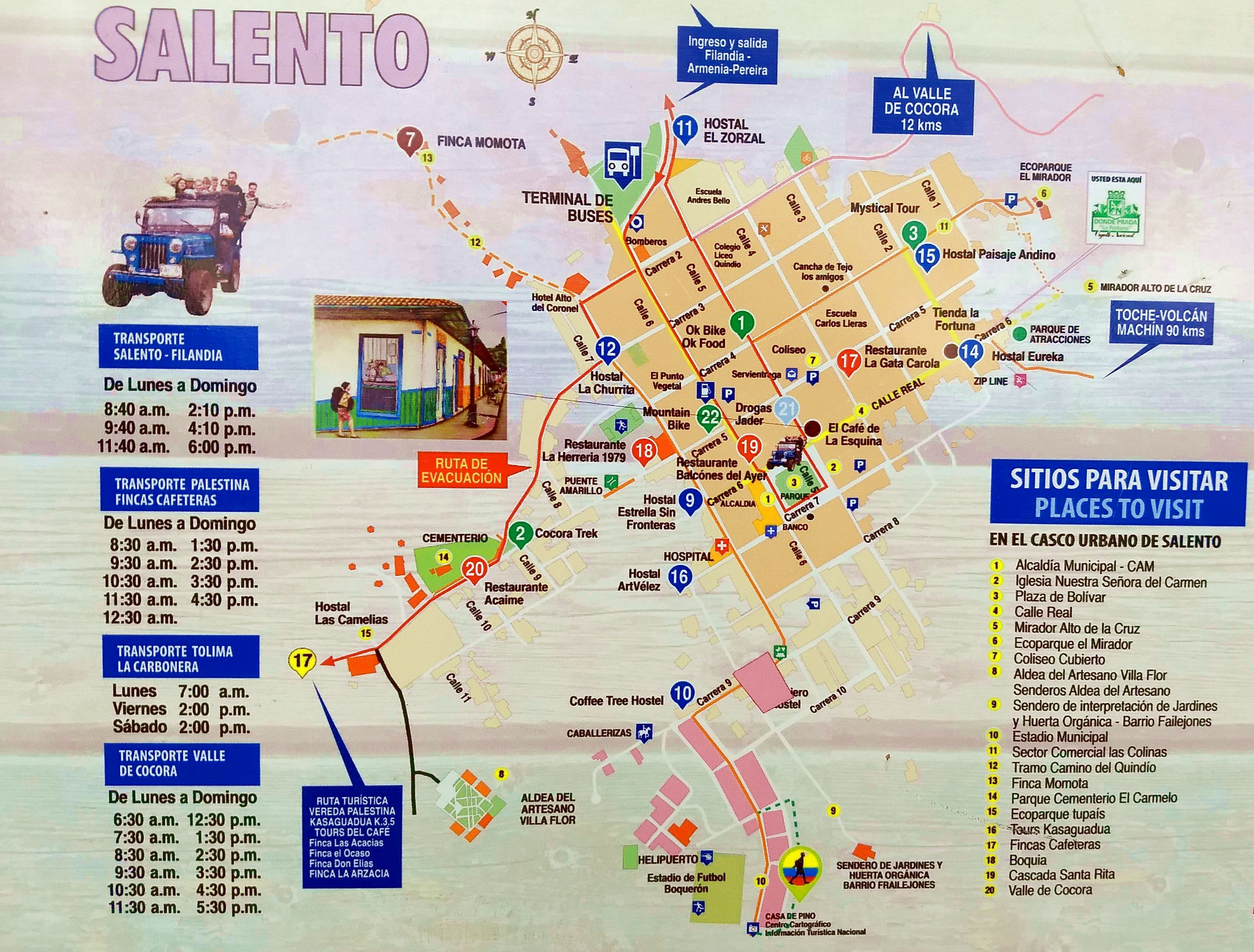Salento, Colombia map