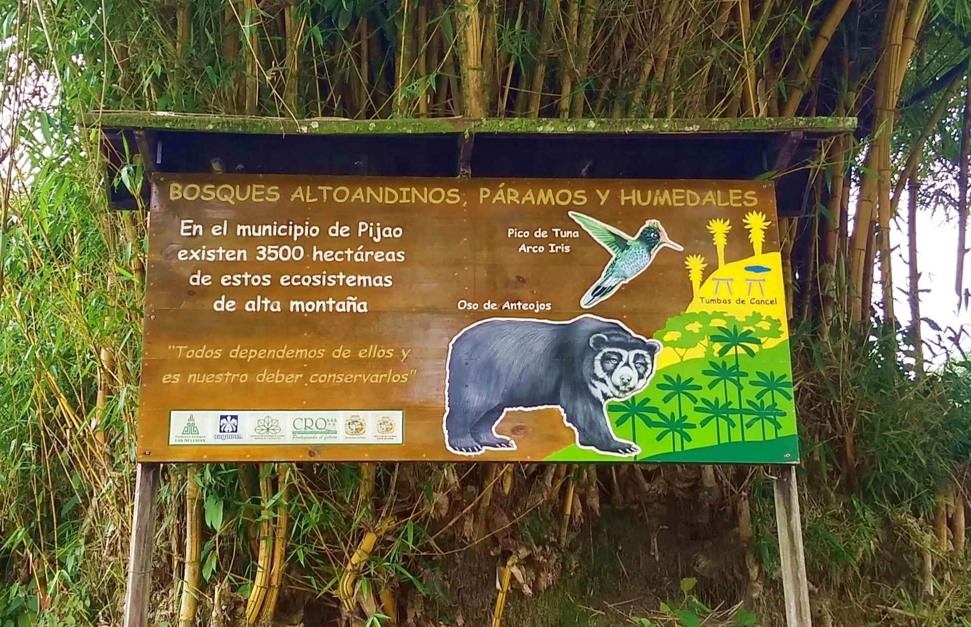 Pijao, Quindio environmental sign