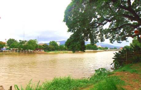 Chiang Mai riverside cafe
