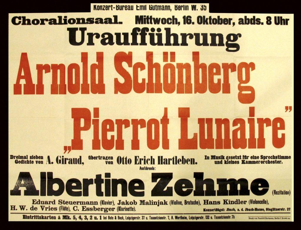 Pierrot Lunaire premiere