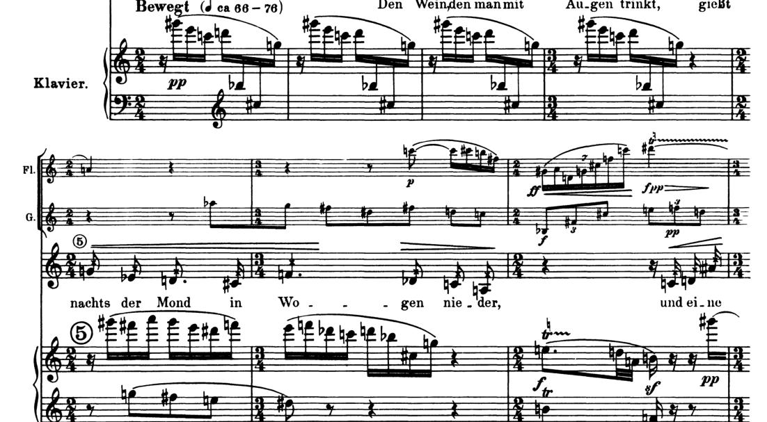 Pierrot Lunaire piano part