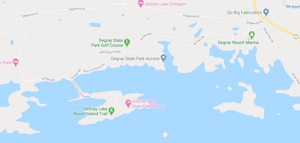 DeGray Lake map