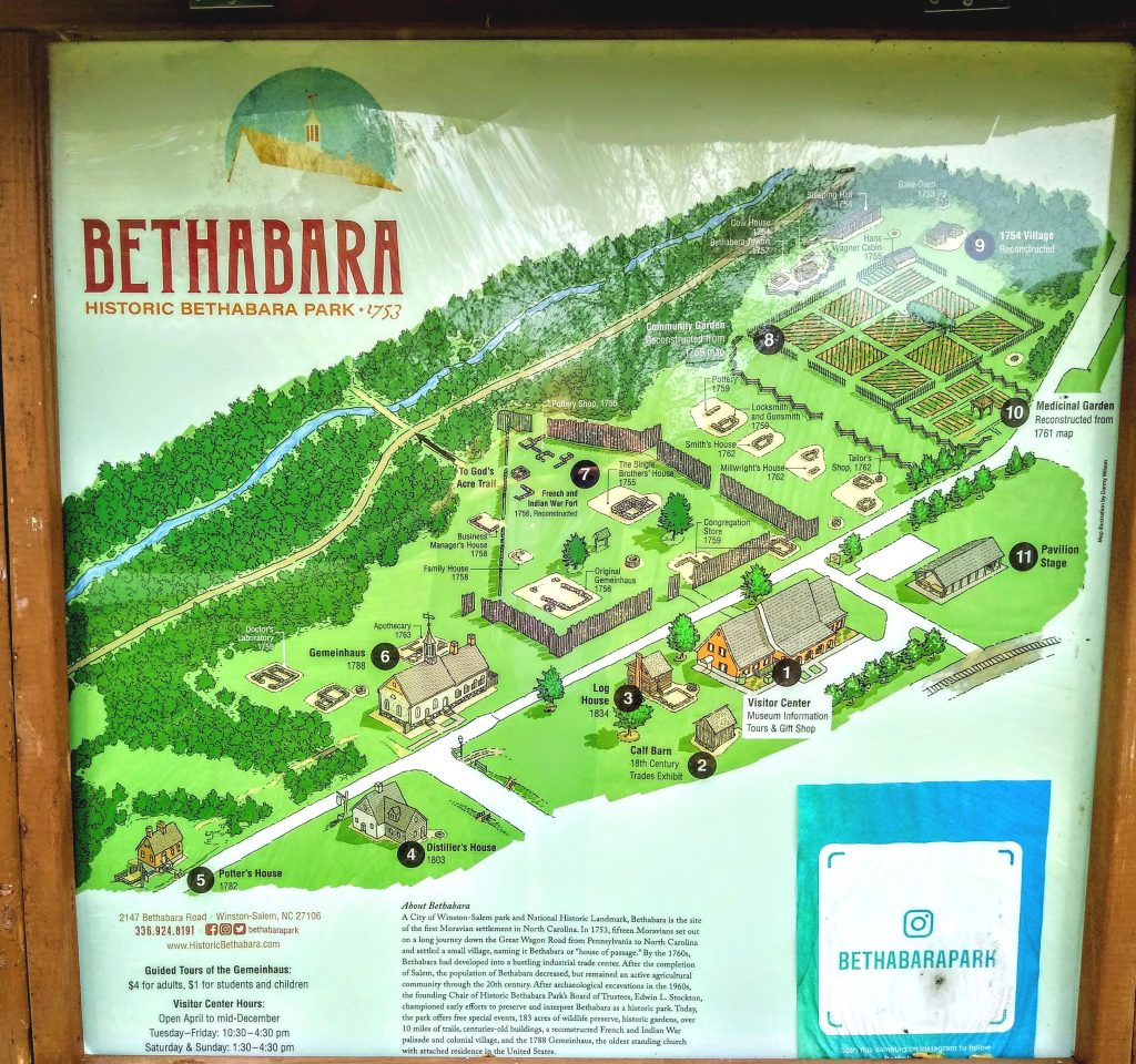 Historic Bethabara Park schematic