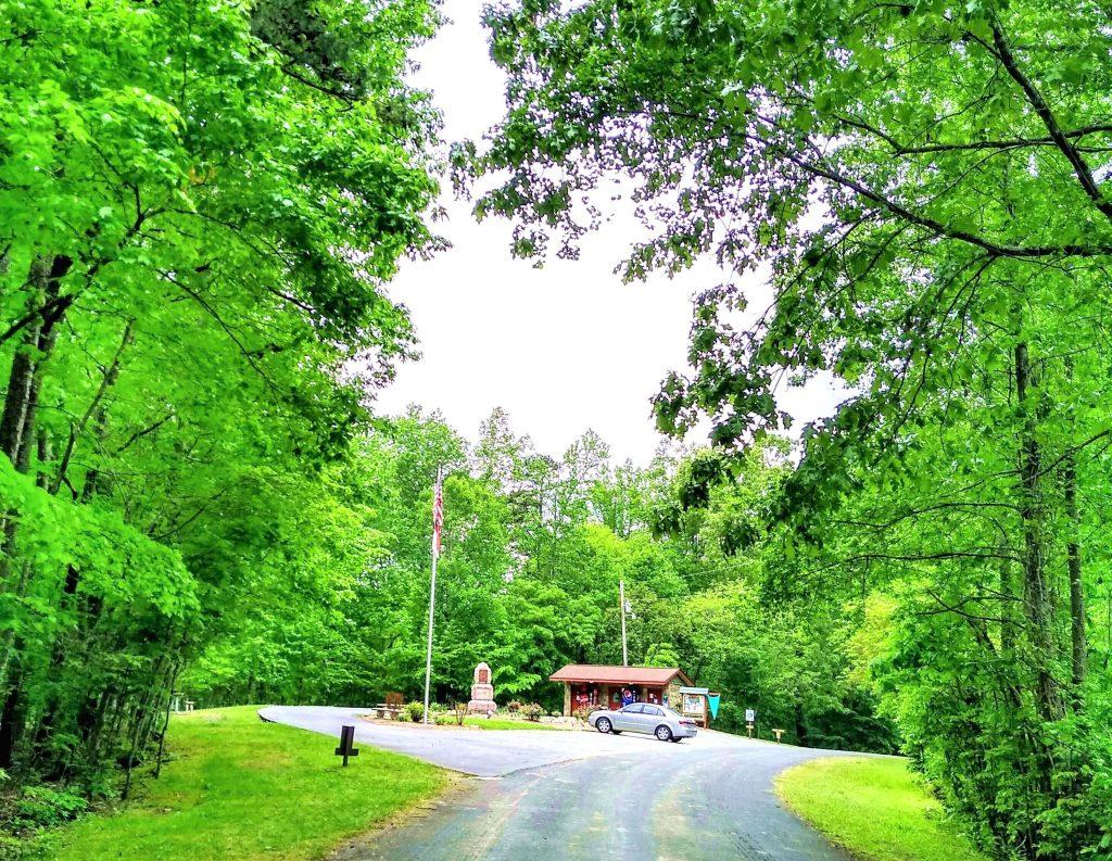 Boone's Cave Park forest view